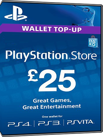 Playstation Network Card PSN Key 25 Pfund [UK] Screenshot