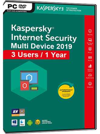 Kaspersky Internet Security Multi-Device 2019 (3 Users / 1 Year) Screenshot