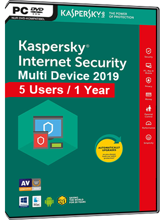 Kaspersky Internet Security Multi-Device 2019 (5 Users / 1 Year) Screenshot