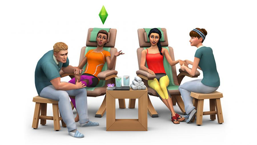 Die Sims 4 - Wellness-Tag + Luxus-Party-Accessoires + Sonnenterrassen Bundle Screenshot 2