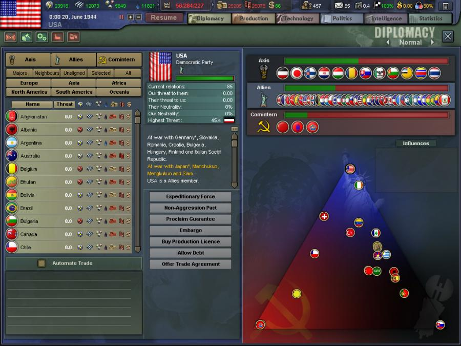 Hearts of Iron 3 Screenshot 2