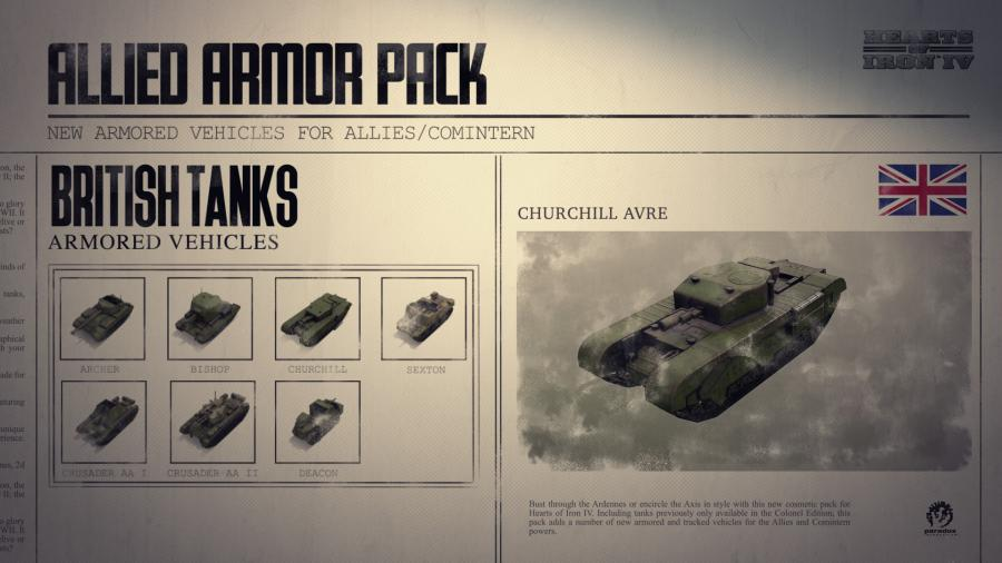 Hearts of Iron IV - Allied Armor Pack (DLC) Screenshot 6